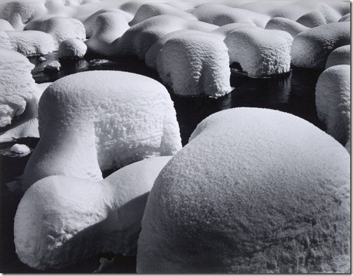 Ansel Adams_Snow Hummocks, Valley View