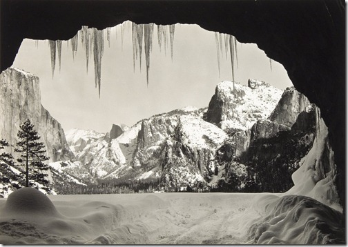Ansel Adams_From Wawona Tunnel, Winter, Yosemite