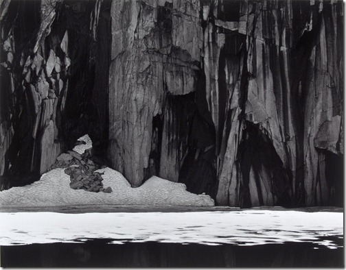 Ansel Adams_Ice and Cliffs, Kaweah Gap (Frozen Lake and Cliffs, Sequoia National Park)