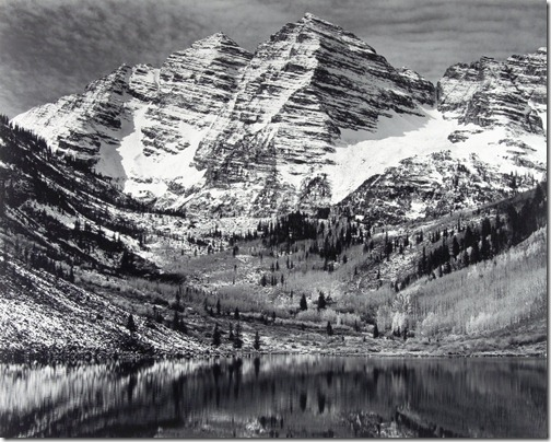 Ansel Adams_Maroon Bells, Near Aspen, Colorado