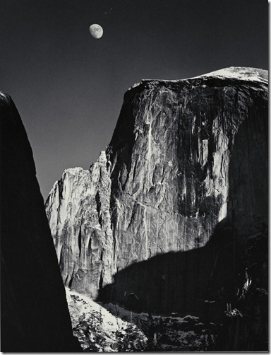 Ansel Adams_Moon and Half Dome, Yosemite Valley